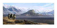 "Lord of the Rings 23"" Art Print: Sunrise upon Edoras - by Weta"