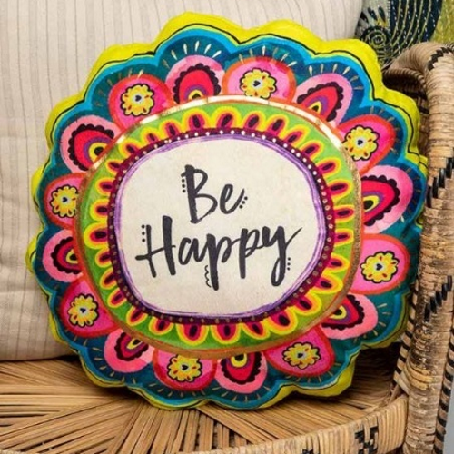 Natural Life: Happy Pillow - Be Happy Flower