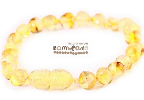 Bambeado Amber Anklet - Baby Bud - Lemon image