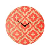 Neon Pink Carved Wall Clock