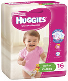 Huggies Ultra Dry Nappies - Walker Girl 13-18kg (16)