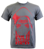 Star Wars: The Force Awakens Kylo Ren Face T-Shirt (X-Large)