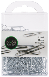 Dixon Paper Clips 31mm Round Pack 200