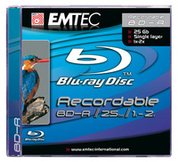 Emtec Blu-ray BD-R (6x) Jewel Case - Single