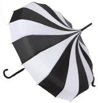 Sourpuss: Sourpuss Pagoda Umbrella (Black/White)