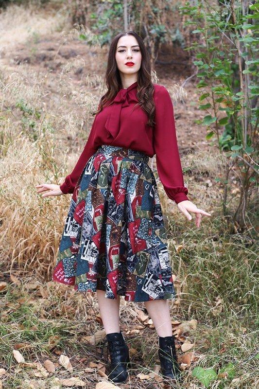 Retrolicious: Spellbound Doris Skirt - X-Small
