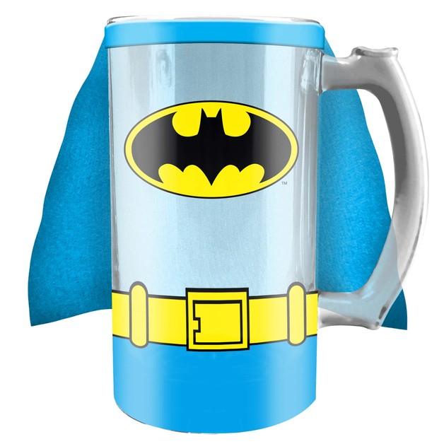 Batman Costume Cape Glass Stein