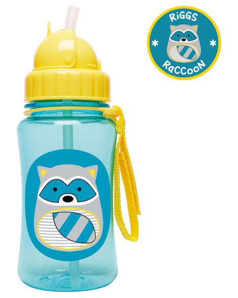 Skip Hop: Zoo Straw Bottle - Racoon image
