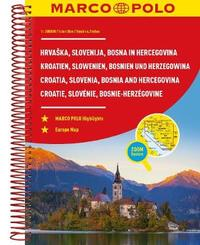 Croatia, Slovenia, Bosnia and Hercegovina Marco Polo Road Atlas by Marco Polo
