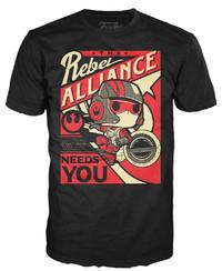 Star Wars - Poe Propaganda Pop! T-Shirt (L)