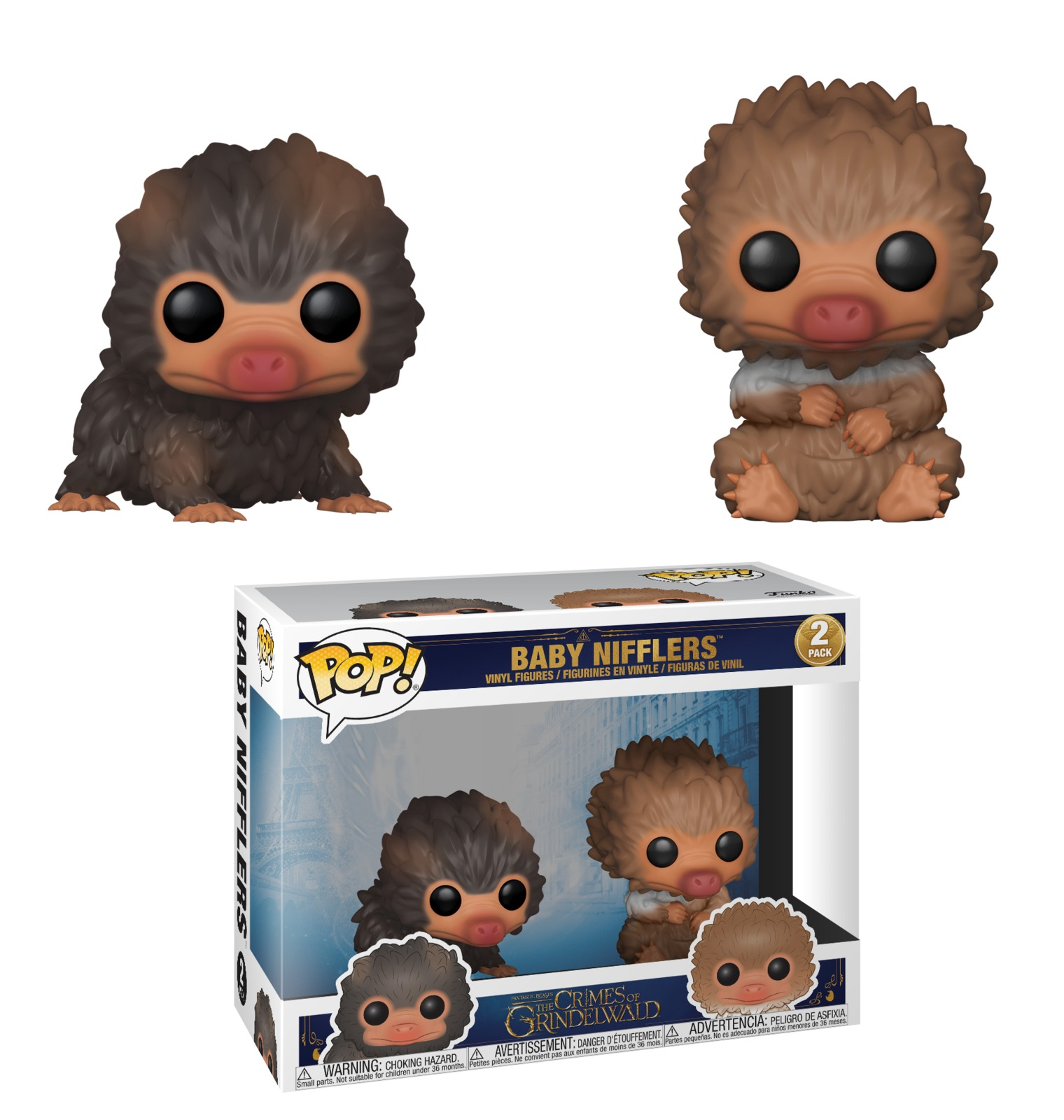 Fantastic Beasts 2 - Baby Nifflers (Brown & Tan ) Pop! Vinyl 2-Pack image