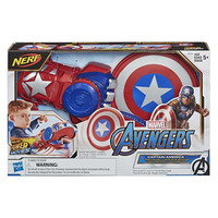 NERF Power Moves: Marvel Avengers Kids Roleplay - Captain America Shield Sling image