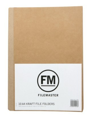 FM A4 File Folder - Pack 10 (Kraft)