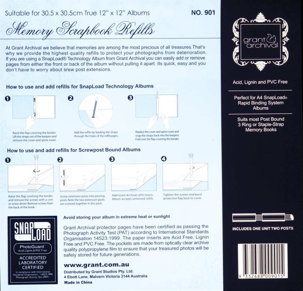 Grants Studio Scrapbook Album Refill 12 x 12' image