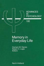 Memory in Everyday Life: Volume 100
