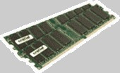 Crucial 1GB kit (512MBx2) 184-pin DIMM DDR PC3200 ECC  CL=3
