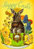 Madam Treacle - Rabbit In A Cup Easter Card