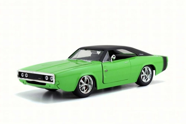Jada 1/24 Dodge Hemi Charger 1970 (Green) Diecast Model