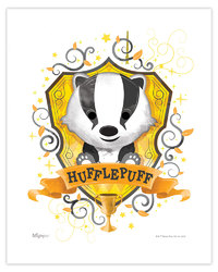 Harry Potter (Hufflepuff Watercolor) MightyPrint Wall Art