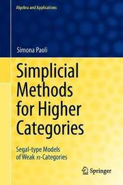 Simplicial Methods for Higher Categories by Simona Paoli