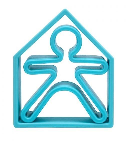 dena: Kid + House - Silicone Toy Set (Pastel Blue)