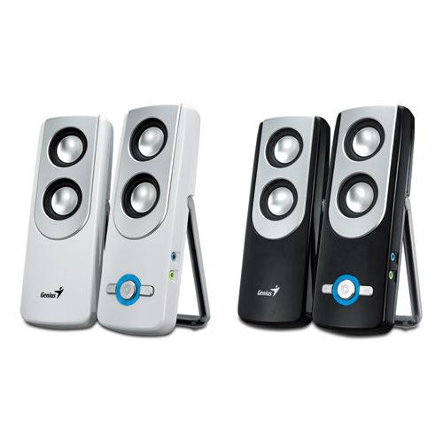 Genius 2.0channel AC Portable Speakers (Black) - 10W