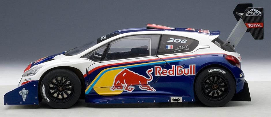 1/18 Peugeot 208 T16 Pikes Peak Race Car 2013 (Red Bull