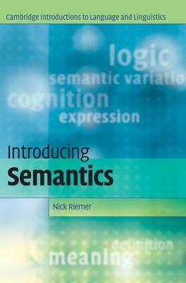 Introducing Semantics by Nick Riemer image
