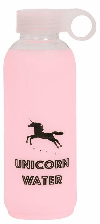 General Eclectic Glass Drink Bottle - Unicorn Water (420ml)