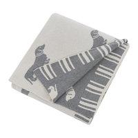 Emily Bond Knit Throw Blanket - Grey Dachshunds