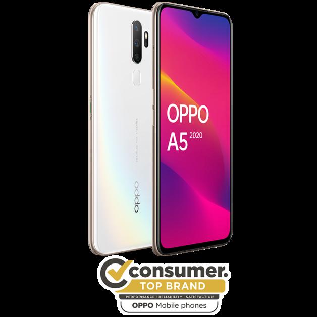 OPPO A5 2020 (3GB+64GB) Smartphone - Dazzling White