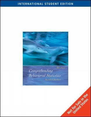 Comprehending Behavioral Statistics by Russell T. Hurlburt image