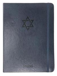 The Star of David Essential Journal (Navy Leatherluxe(r)) by Ellie Claire image
