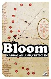 Kabbalah and Criticism by Harold Bloom