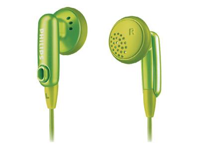 Philips SHE2616 Green Gummy Headphones for Ipod
