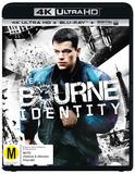 The Bourne Identity (4K UHD + Blu-ray + UV) DVD