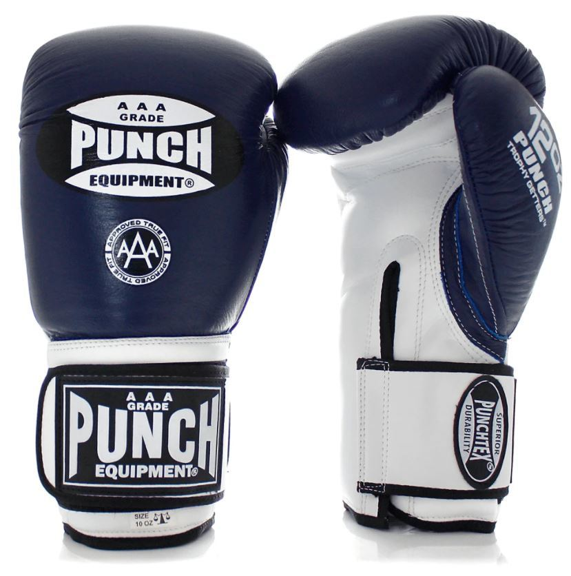 Punch Equipment: Trophy Getters Gloves - Blue/White (16oz) image