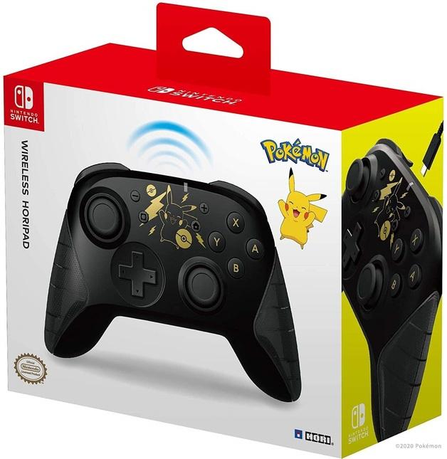 Switch Wireless HORIPAD (Pikachu Black & Gold) by Hori for Switch