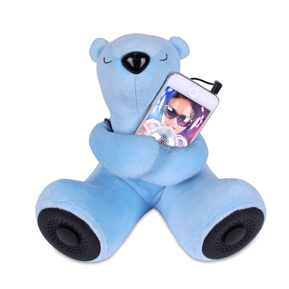 Portable Teddy Bear Speaker (Blue)
