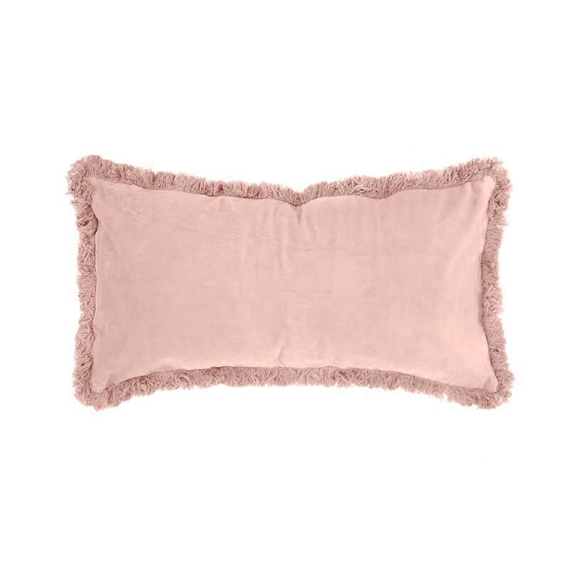 Bambury Rosewater Velvet Feather Filled Cushion image