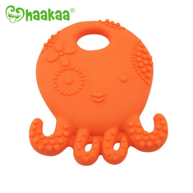 Haakaa: Octopus Silicone Teether - Orange