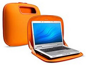 Belkin Laptop @ Home PocketTop Case Grey with  Orange