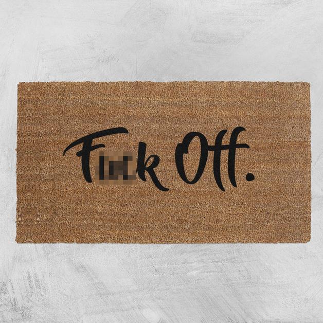 Natural Fibre Doormat - F*ck Off