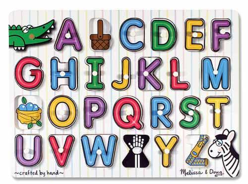 Melissa & Doug: See-Inside Alphabet Wooden Peg Puzzle