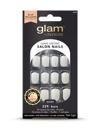 Glam by Manicare - Basic Short Square Glue-On Nails (2g)