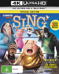 Sing on Blu-ray, UHD Blu-ray