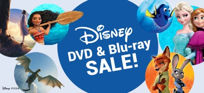 Up to 50% off Disney DVDs & Blu-ray!
