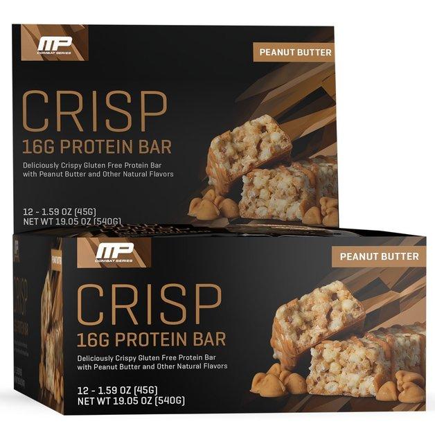 MusclePharm Combat Crisp Bar - Peanut Butter (Box of 12)