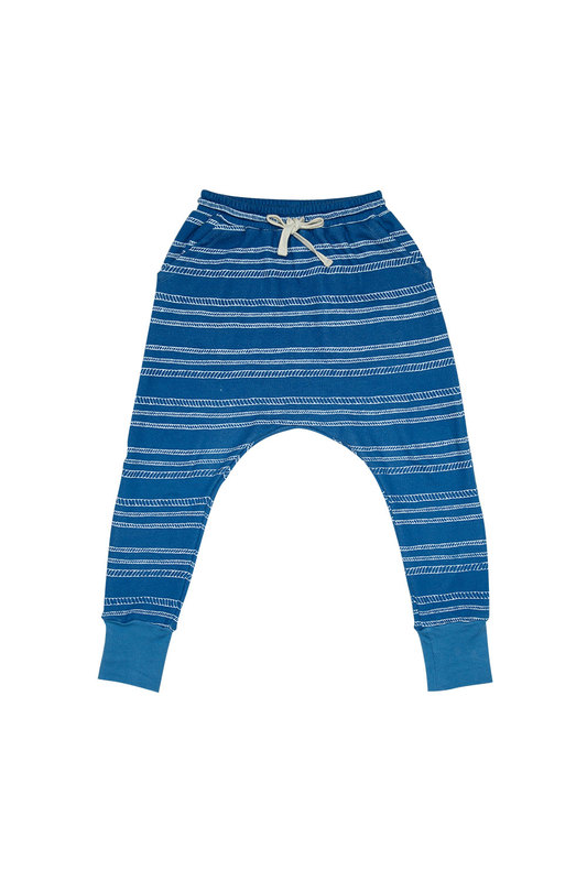 Zuttion Kids: Low Crotch Trackie Pants Rope Stripe - 6