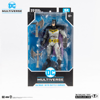 "DC Multiverse: Batman with Battle Damaged (Dark Knights: Metal) - 7"" Action Figure"